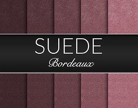 3D Bordeaux Suede Fabrics Seamless Textures Set