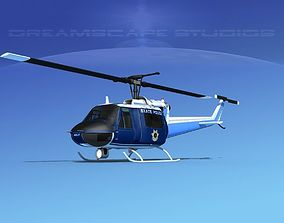 3D model Bell 204 State Police