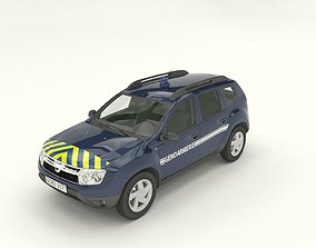 Gendarmerie Dacia Duster 3D model