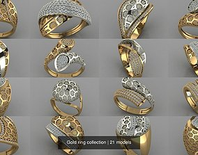 3D model Gold ring collection