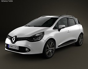3D Renault Clio IV Estate 2013