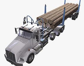 3D asset Kenworth T800 Log Truck