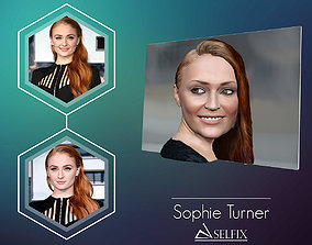 3D Photo of Sophie Turner ready for 3d print printable