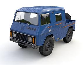 3D model VOLVO LAPLANDER C202 CREWCAB 1977