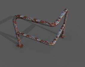 3D model PBR Steel barrier