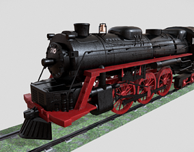 Steam Engine Train Wagon 3D asset