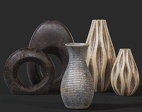 Vases Set 3D asset VR / AR ready