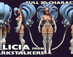 3D Nekomimi Felicia from Darkstalkers NSFW
