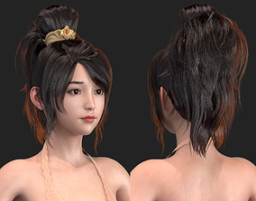 3D High-quality Realism polygon hair 17