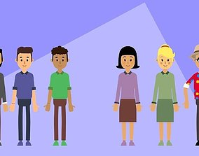 Motion Characters for presentations 3D model