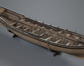 Pinnace Longboat 3D asset