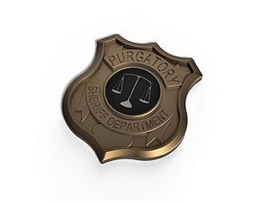 3D printable badge Purgatory Sheriff Department