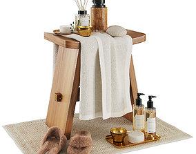 3D Zara home wood stool