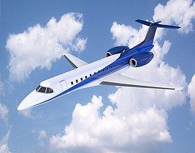 3D asset Embraer ERJ-135 business jet