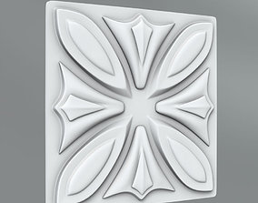 carved Square decoration 3D
