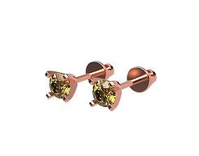 Stud A-System Earring gem 3D printable model