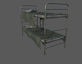 3D model Military Bed 02