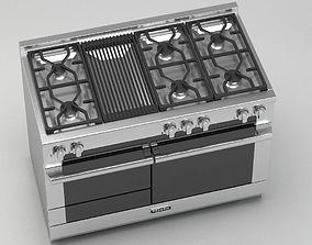 3D Modern gas range cooker