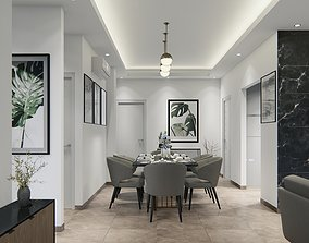 Lumion 10 and Sketchup Project File - Dining and Living 3D