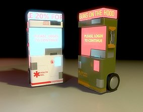 3D asset realtime Sci-Fi Vendor Machine