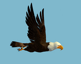 beak 3D model animated Eagle
