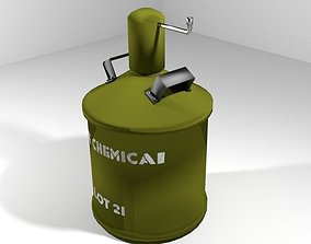 Landmine Chemical gas mine 3D
