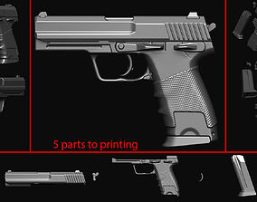 Gun 14 pistol 3D printable model