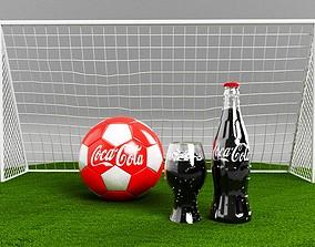 Football Coca Cola 3d model