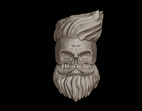 Hipster Skull 3D Print Model jewelry