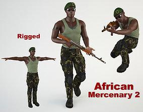 African Mercenary 2 3D model