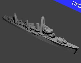 Japanese Hatsuharu Class Destroyer Warship 3D print model