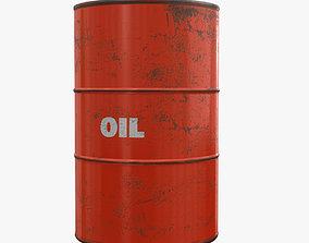 3D PBR Oil Drum