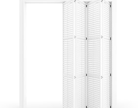 Interior folding shutter door 3D