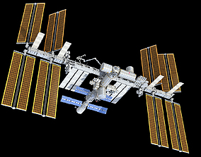 3D ISS International Space Station orbital