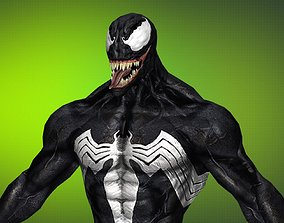 Gameready Venom Classic 11 - max fbx obj png 3D model