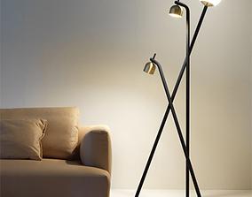 Tripod Floor Lamp 3D model PBR