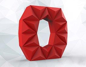 Lowpoly letter O 3D print model