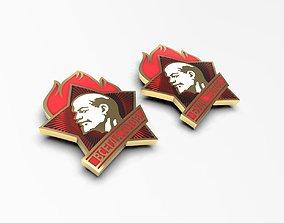 3D printable model Soviet pioneer Lenin badges