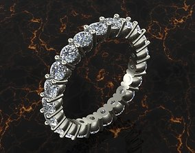 3D printable model eternity band smooth setting