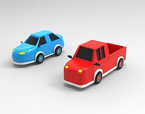 3D print model Cars-pickup truck and race car