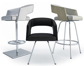 Armchairs and Bar Stools Jolly Collection Potocco 3D model