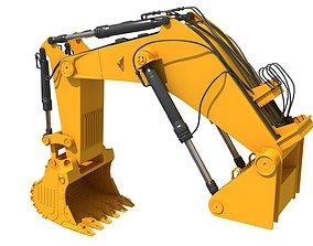 Excavator Bucket Backhoe 3D model