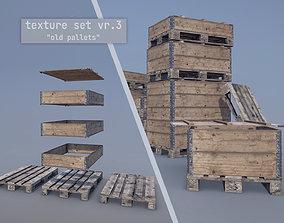 Cargo Wood Pallets Collars Cover EUR EPAL vr-3 3D asset
