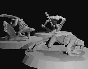 Lizard Mercenaries 3D print model