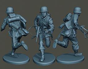 3D printable model German soldier ww2 running G2