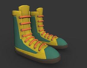 3D asset Boots Yellow