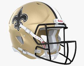 New Orleans Saints Football Player Helmet 3D model