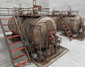 Industrial Steam Boiler 3D model