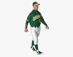 Baseball Player Rigged Athletics 2 3D