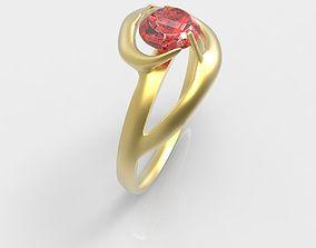 3D printable model Golden Ring With Ruby Gem